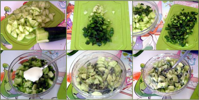 Zielona surówka przygotowanie